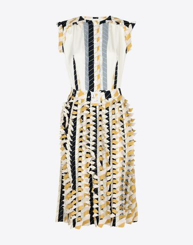 MAISON MARGIELA 3/4 length dress Woman Cut-out pleated dress f