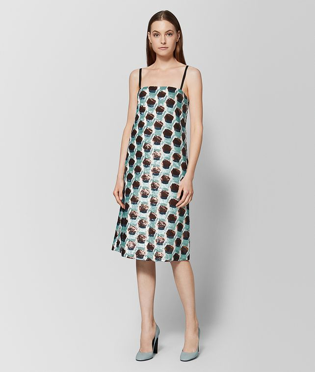 BOTTEGA VENETA MULTICOLOR SILK DRESS Dress Woman fp