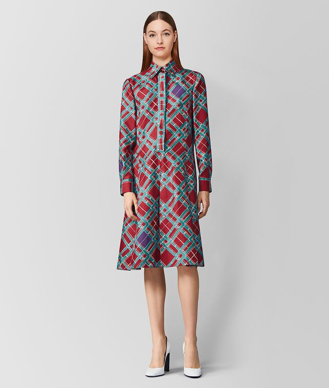 BOTTEGA VENETA MULTICOLOR SILK DRESS Dress [*** pickupInStoreShipping_info ***] fp
