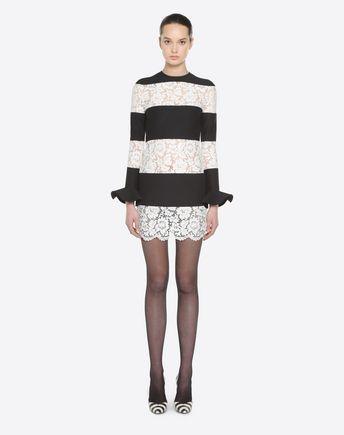 VALENTINO Skirt D Macro Bayadère Mini Skirt r