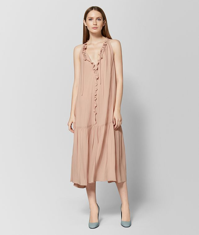 BOTTEGA VENETA PEACH ROSE SILK DRESS Dress [*** pickupInStoreShipping_info ***] fp