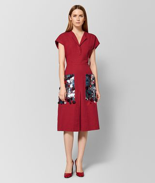 CHINA RED LINEN DRESS