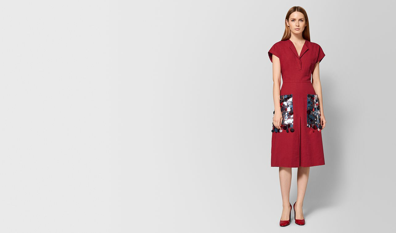 china red linen dress landing
