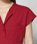 BOTTEGA VENETA ROBE EN LIN CHINA RED Robe Femme ap