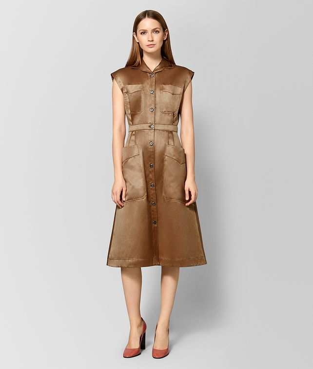 BOTTEGA VENETA CAMEL COTTON DRESS Dress Woman fp