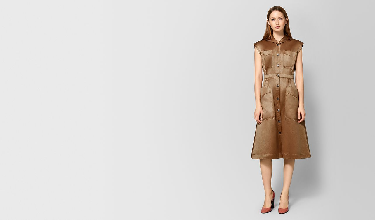 camel cotton dress landing