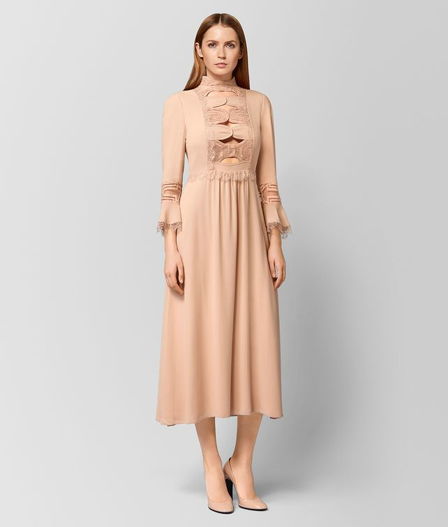 BOTTEGA VENETA PEACH ROSE SILK DRESS  Dress Woman fp