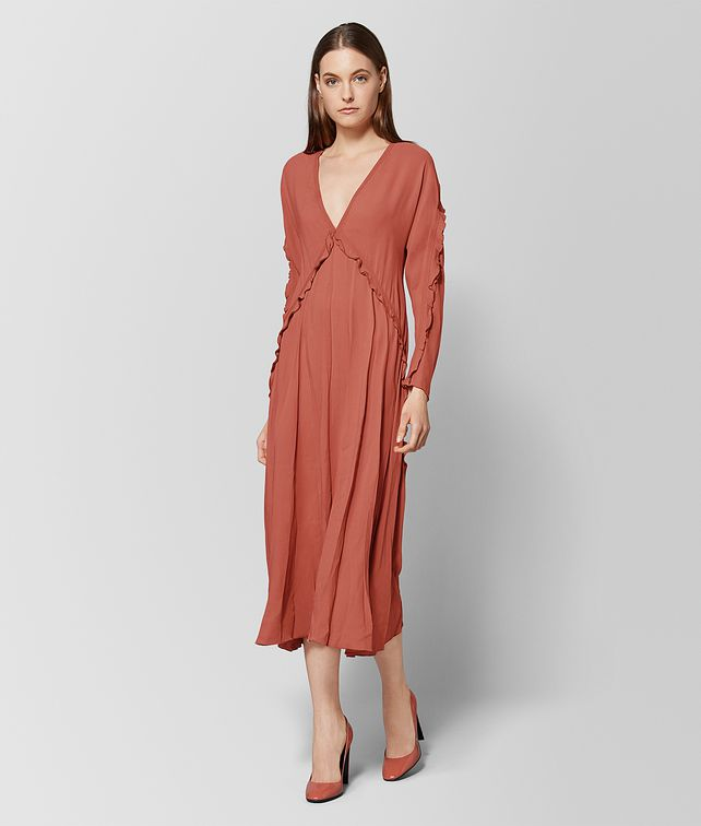 BOTTEGA VENETA HIBISCUS SILK DRESS Dress Woman fp