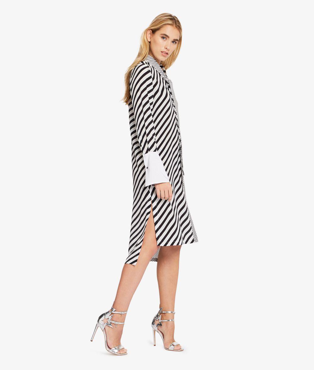 KARL LAGERFELD Hemdblusenkleid mit Streifenmix Kleid Damen d