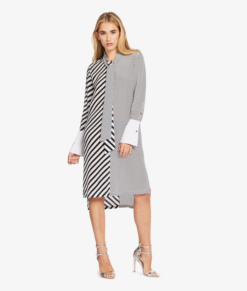 KARL LAGERFELD Hemdblusenkleid mit Streifenmix Kleid Damen f