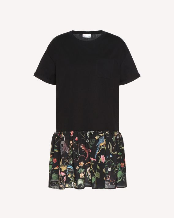 0e7a5d5147 REDValentino T Shirt With Flora And Fauna Print Flounce - Dress for ...