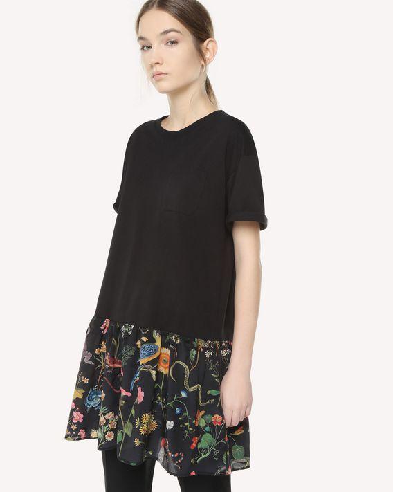 REDValentino フローラ&ファウナプリントフラウンス Tシャツ