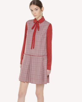 REDValentino Lightweight Prince of Wales dress