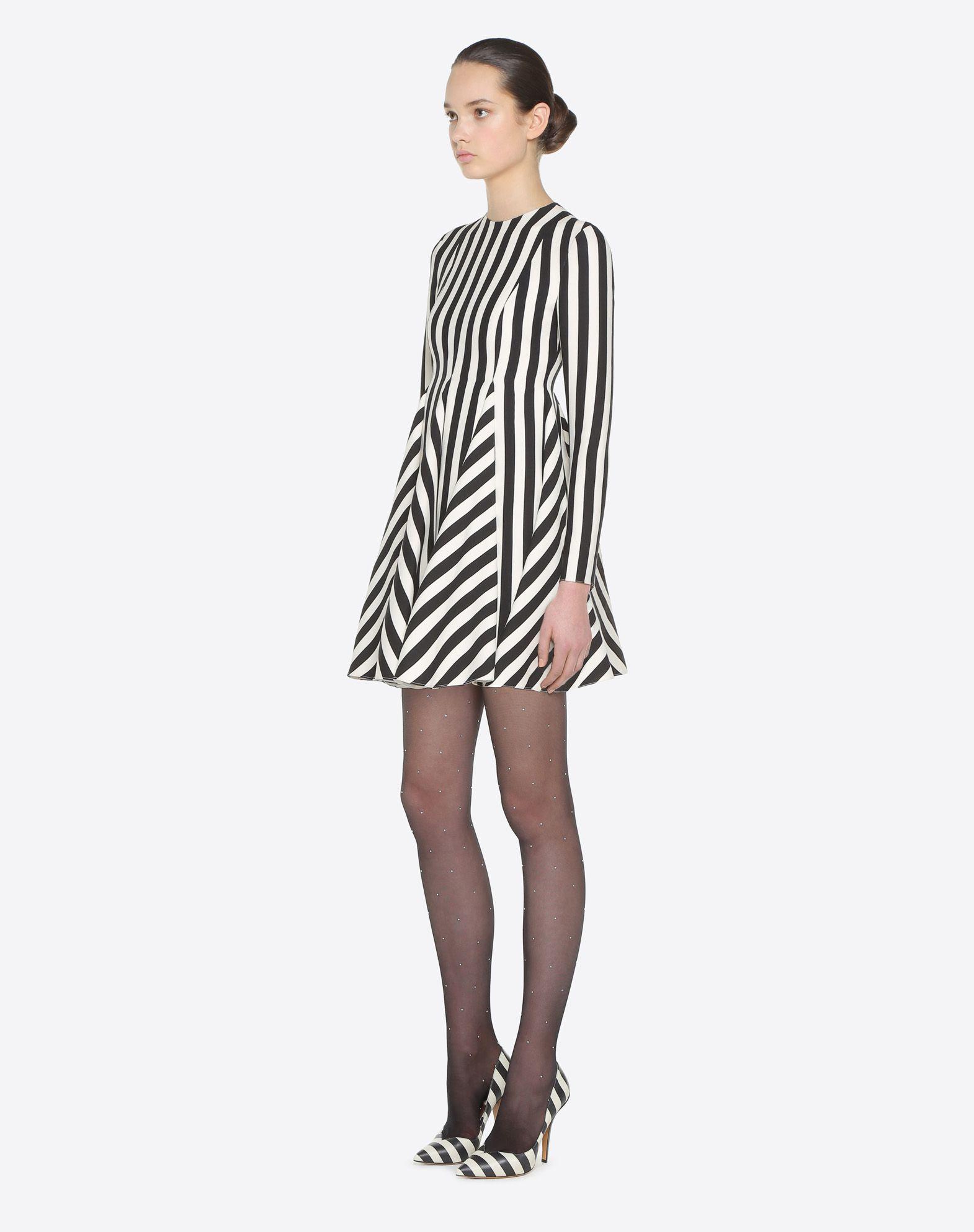 VALENTINO Stripes Re-edition 连衣裙  连衣裙 D d