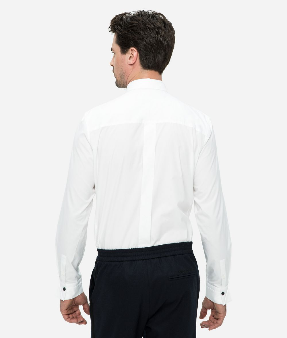 KARL LAGERFELD Logo Placket Poplin Shirt Shirt Man d