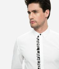 KARL LAGERFELD Logo Placket Poplin Shirt 9_f