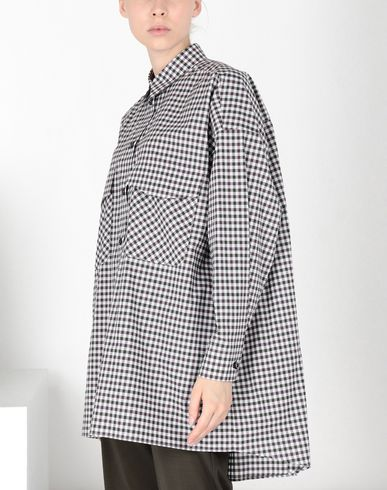 MM6 MAISON MARGIELA 3/4 length dress Woman Oversized checked shirt f