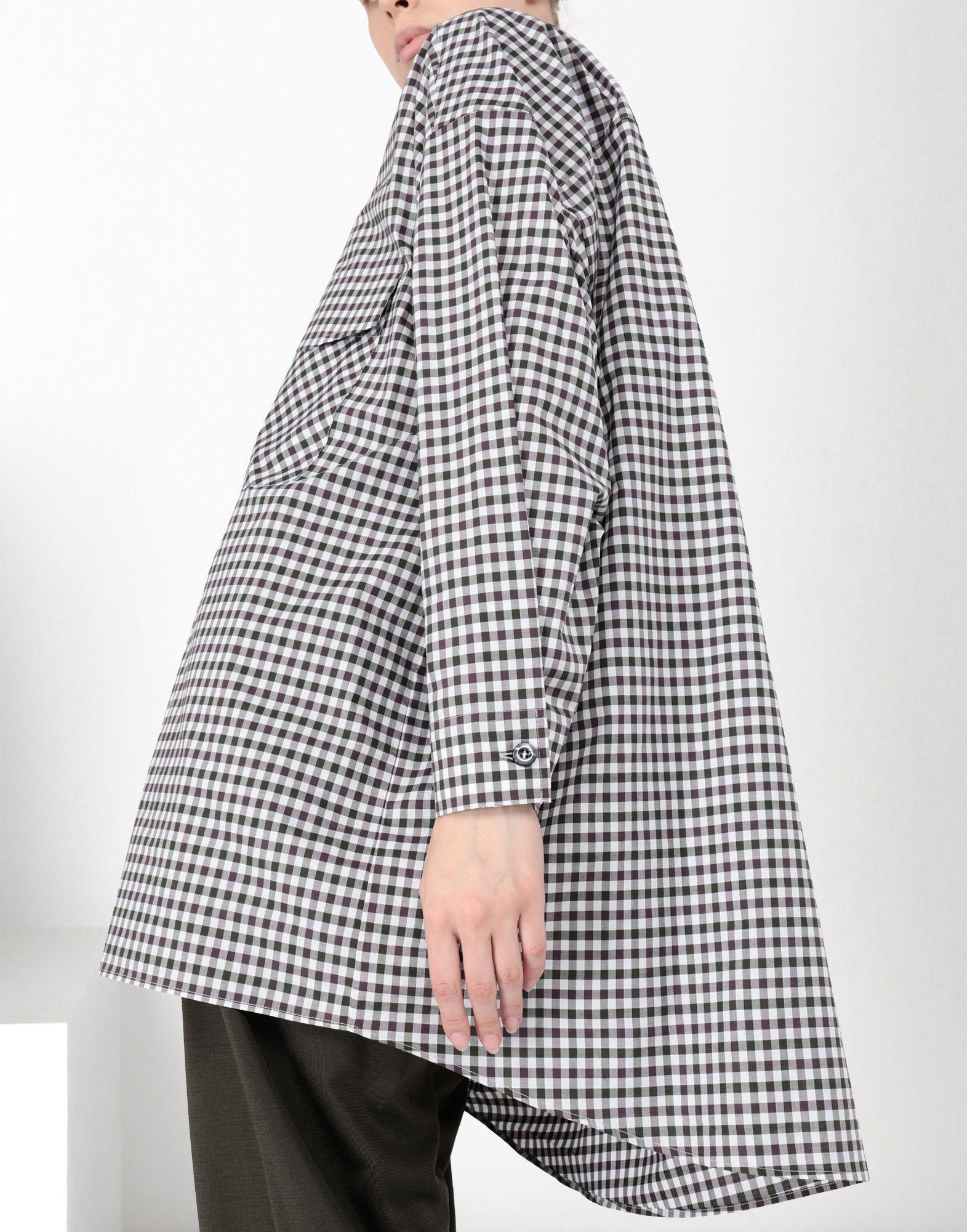 MM6 MAISON MARGIELA Oversized checked shirt 3/4 length dress Woman a