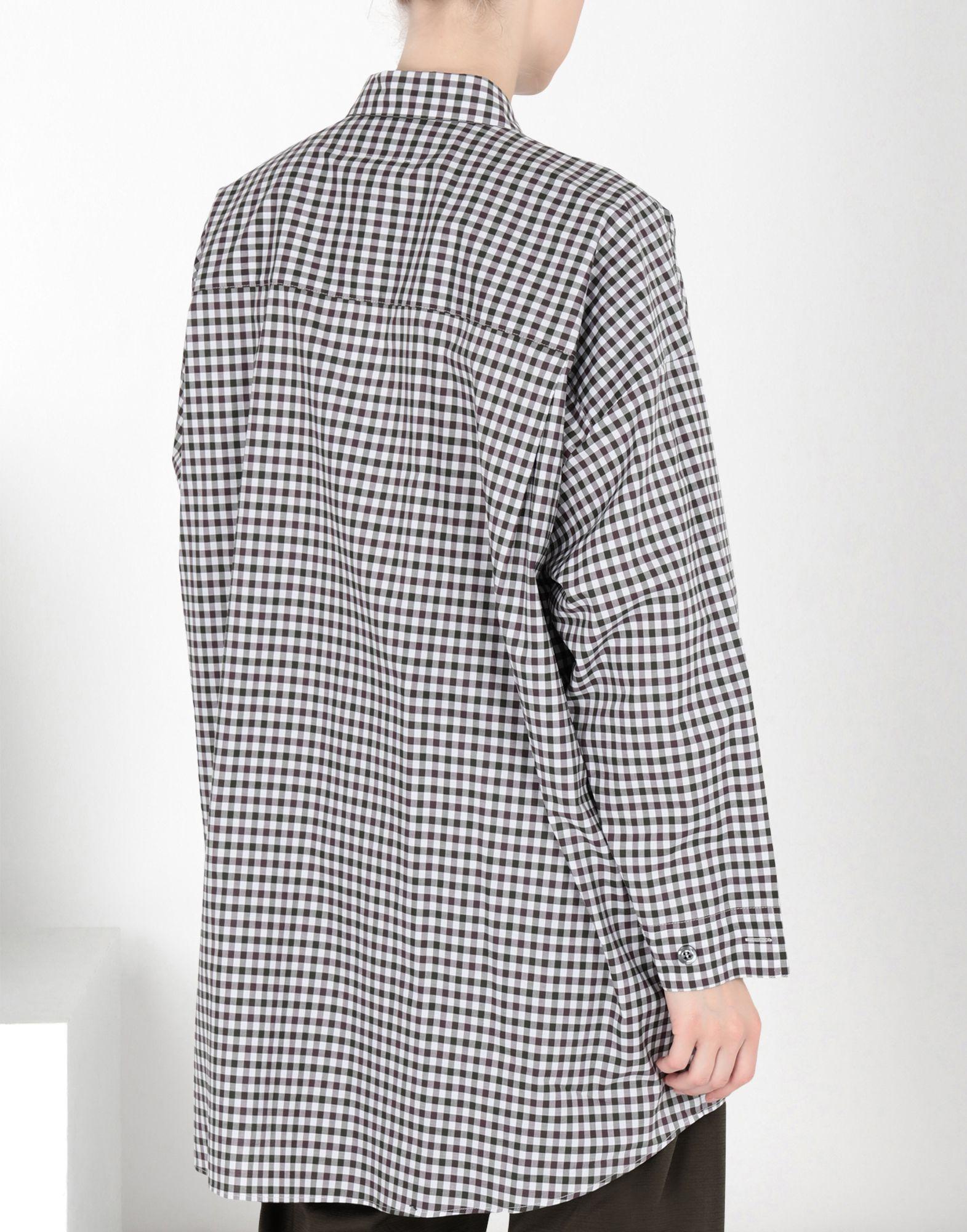 MM6 MAISON MARGIELA Oversized checked shirt 3/4 length dress Woman d