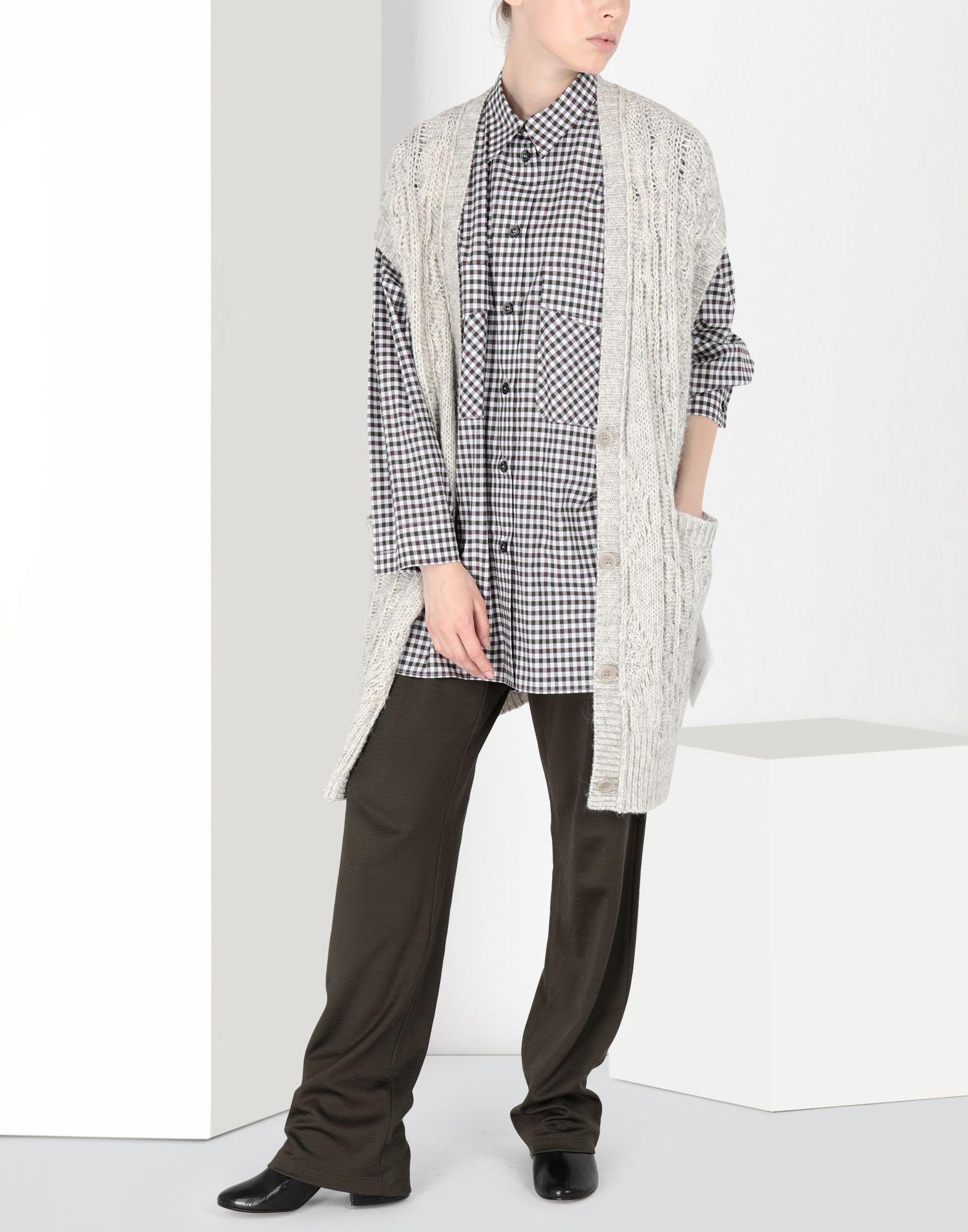 MM6 MAISON MARGIELA Oversized checked shirt 3/4 length dress Woman r