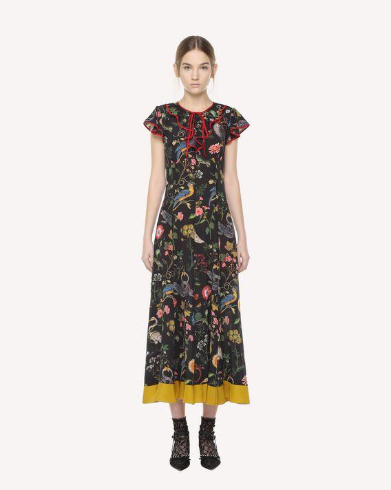 REDValentino Flora-and-fauna print silk dress