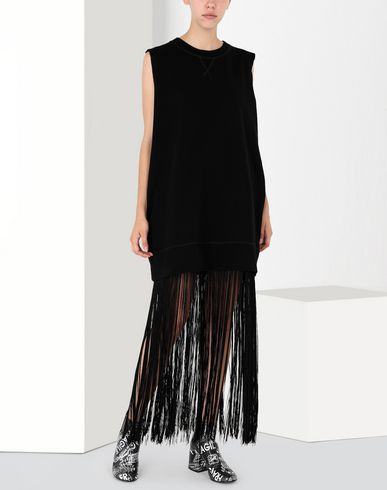 MM6 MAISON MARGIELA Long dress Woman Jumper dress with fringes f