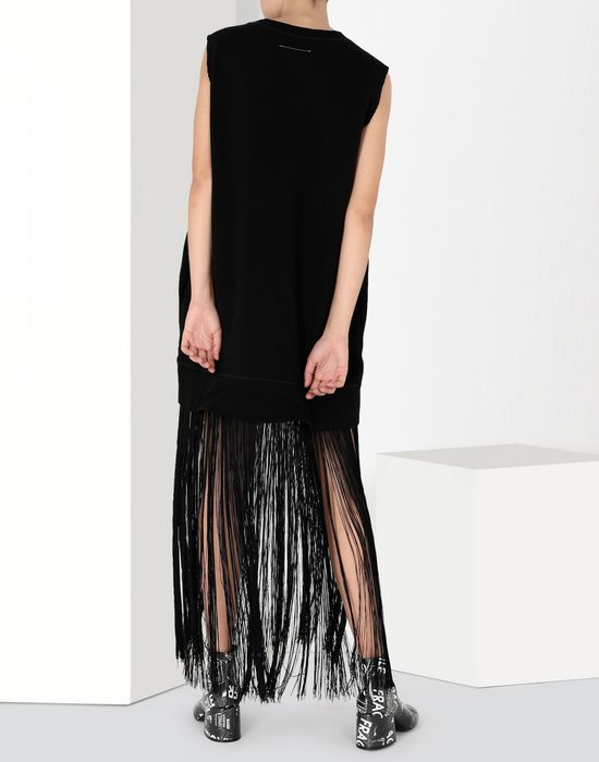 MM6 MAISON MARGIELA Jumper dress with fringes Long dress [*** pickupInStoreShipping_info ***] d