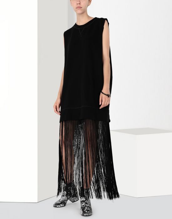 MM6 MAISON MARGIELA Jumper dress with fringes Long dress [*** pickupInStoreShipping_info ***] r