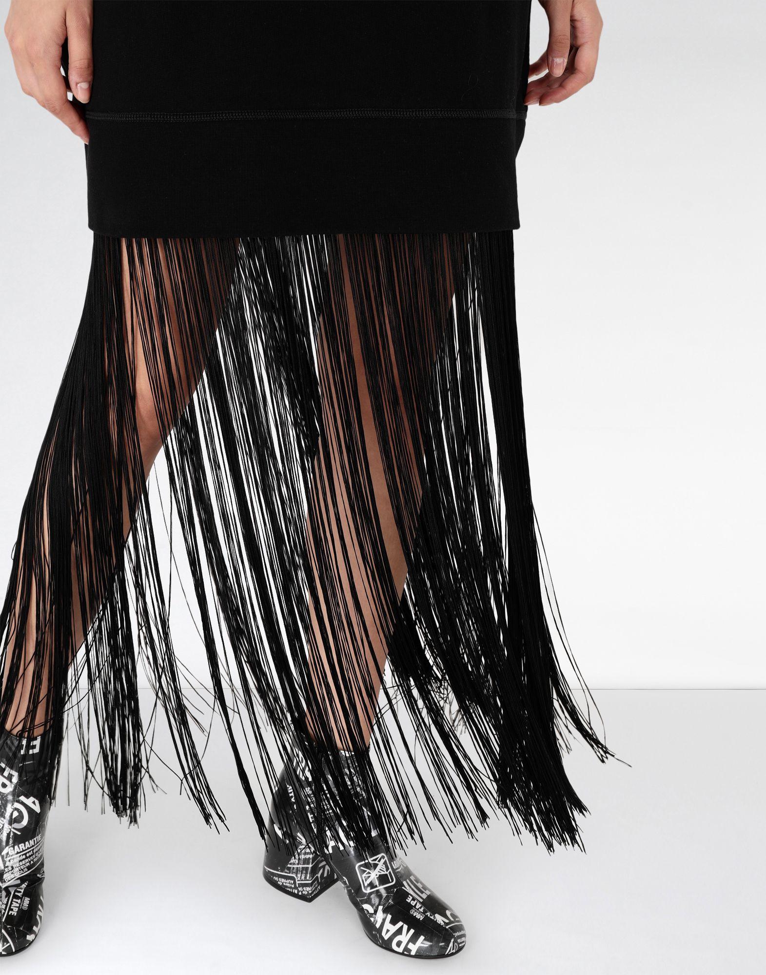MM6 MAISON MARGIELA Jumper dress with fringes Long dress Woman a