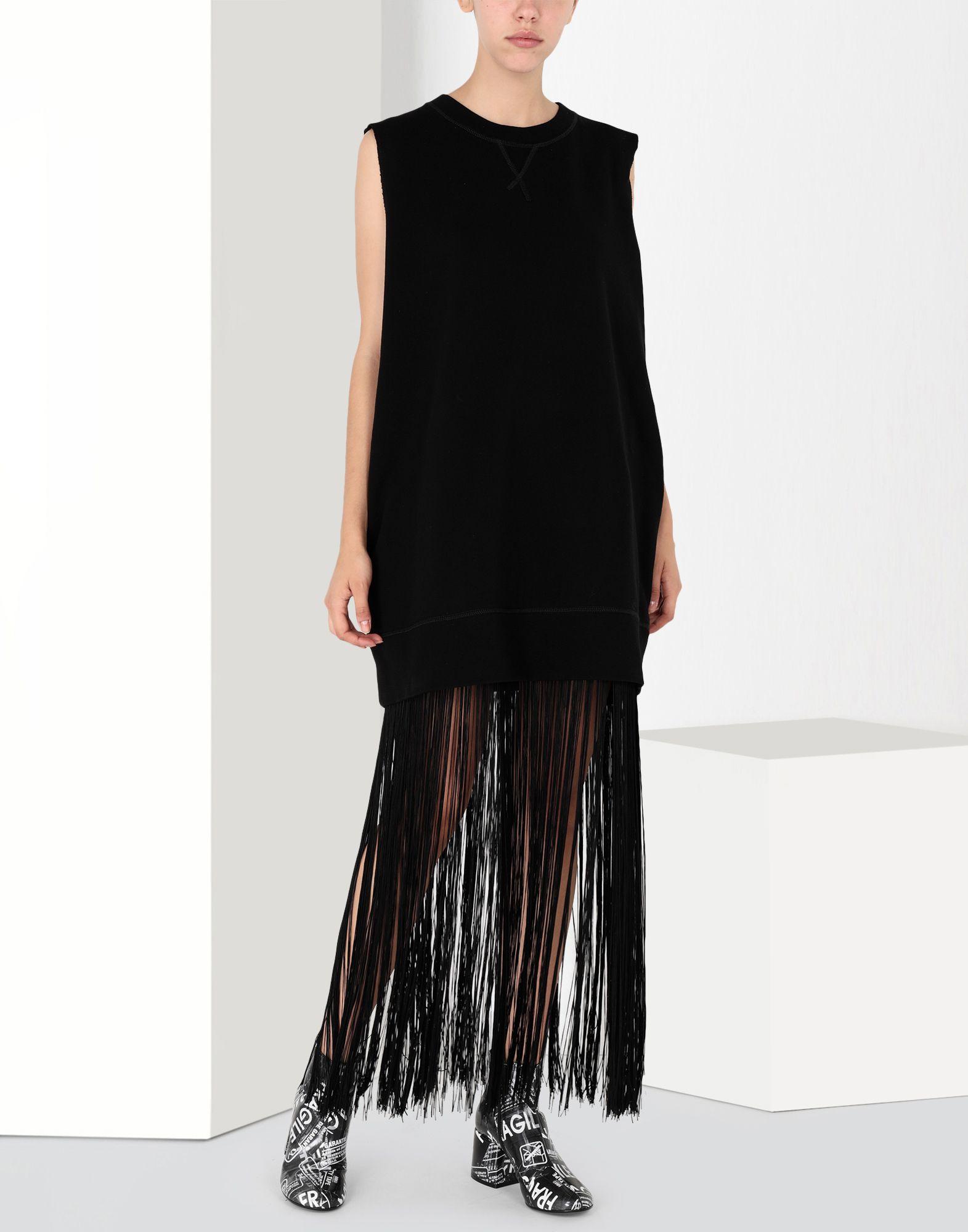 MM6 MAISON MARGIELA Jumper dress with fringes Long dress Woman f