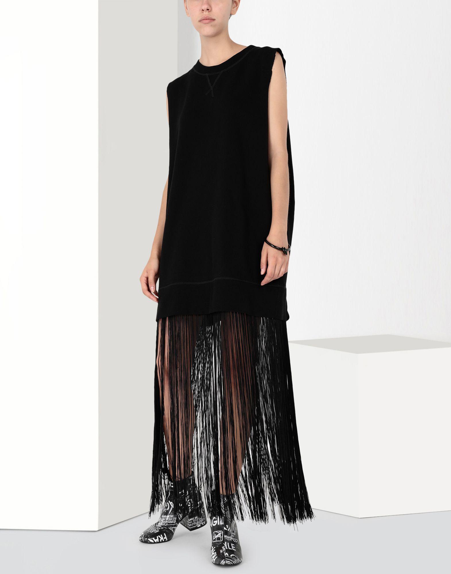 MM6 MAISON MARGIELA Jumper dress with fringes Long dress Woman r