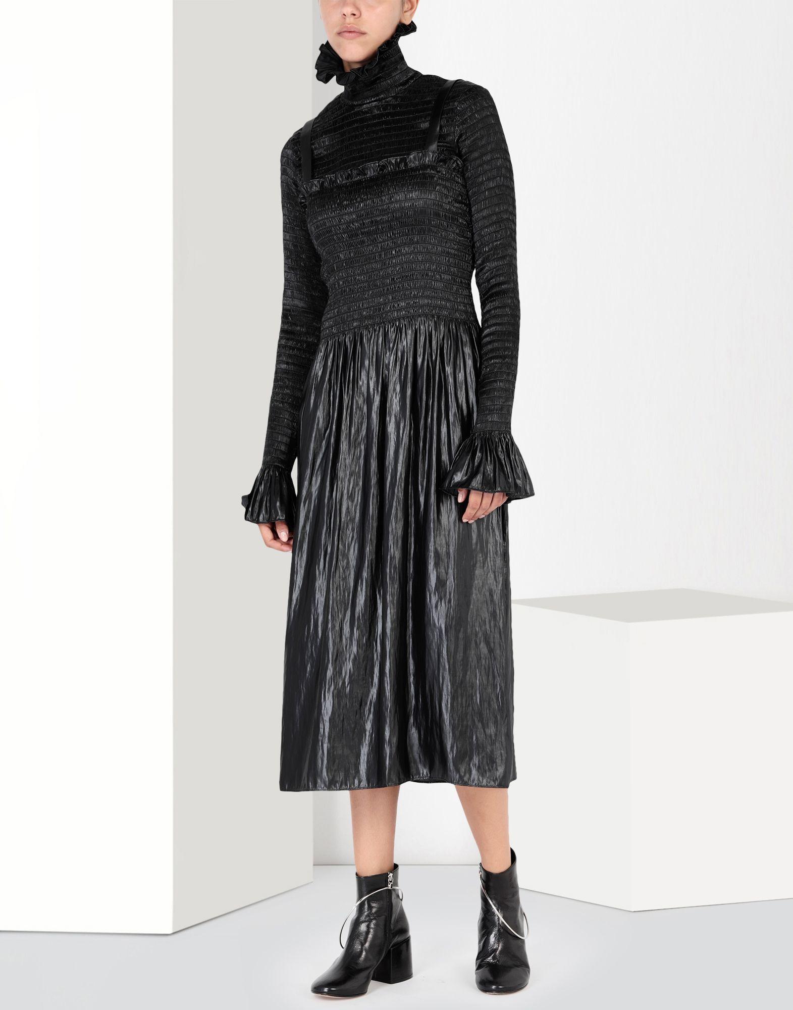 MM6 MAISON MARGIELA Fluid satin dress 3/4 length dress Woman r