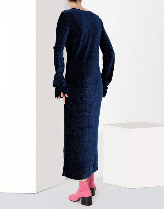 MM6 MAISON MARGIELA Extra long smocking velvet dress Long dress [*** pickupInStoreShipping_info ***] d