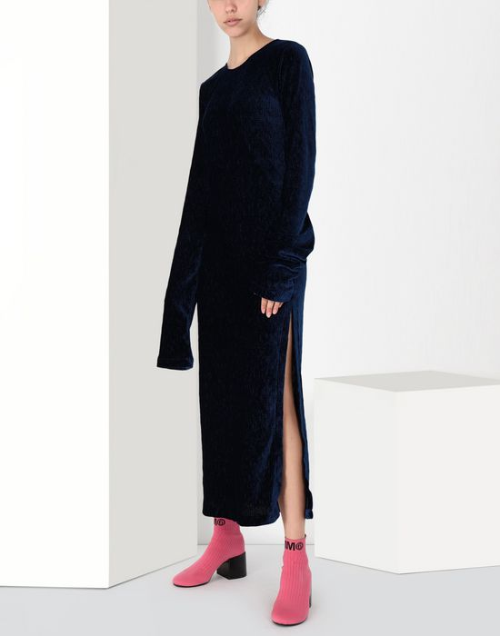 MM6 MAISON MARGIELA Extra long smocking velvet dress Long dress [*** pickupInStoreShipping_info ***] f