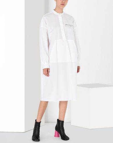 MM6 MAISON MARGIELA 3/4 length dress Woman Long poplin shirtdress f