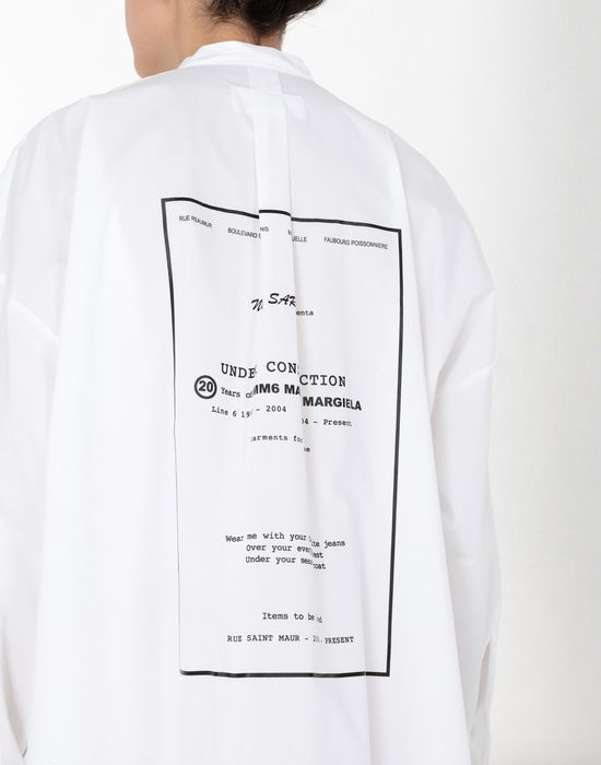 MM6 MAISON MARGIELA Long poplin shirtdress 3/4 length dress [*** pickupInStoreShipping_info ***] a