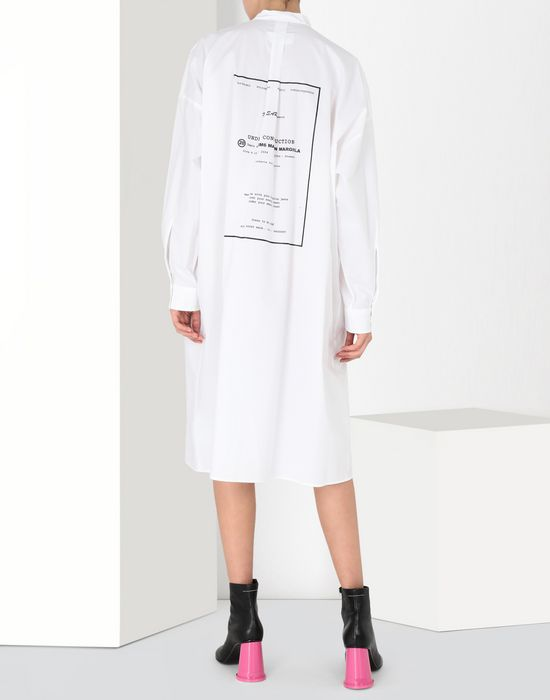 MM6 MAISON MARGIELA Long poplin shirtdress 3/4 length dress [*** pickupInStoreShipping_info ***] d