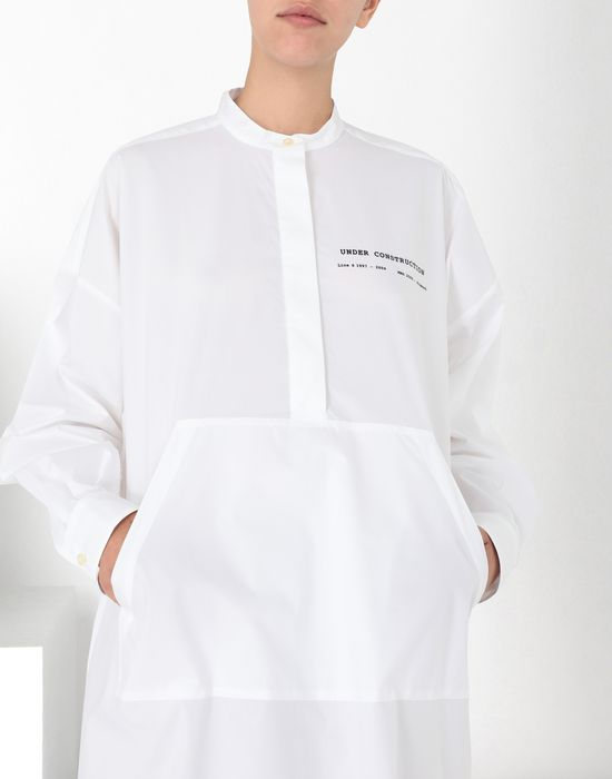 MM6 MAISON MARGIELA Long poplin shirtdress 3/4 length dress [*** pickupInStoreShipping_info ***] e
