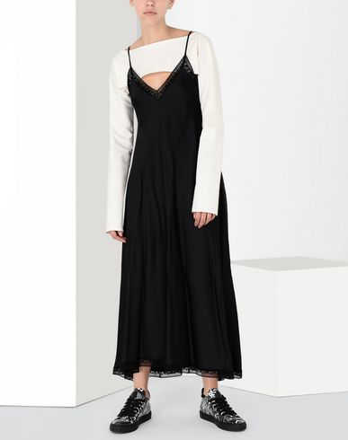 MM6 MAISON MARGIELA Long dress Woman Lace trimmed slip dress f