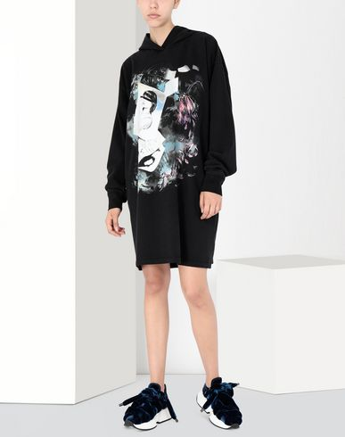 MM6 MAISON MARGIELA Short dress Woman Print hoodie jersey dress f