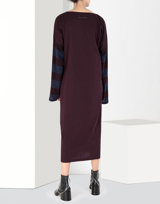 MM6 MAISON MARGIELA Two-tone tie knot midi dress 3/4 length dress [*** pickupInStoreShipping_info ***] d