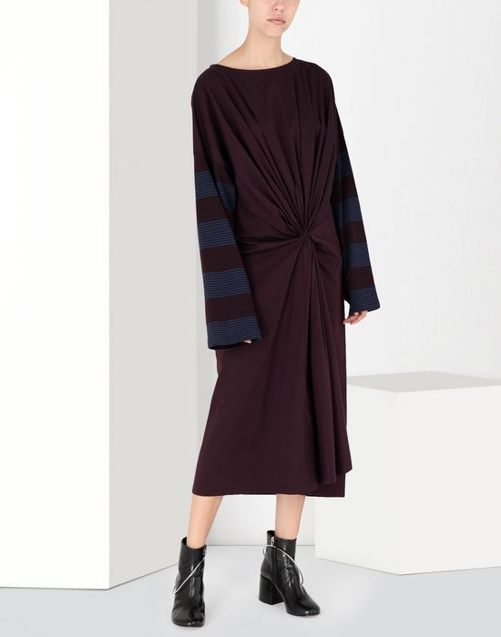MM6 MAISON MARGIELA Two-tone tie knot midi dress 3/4 length dress [*** pickupInStoreShipping_info ***] f