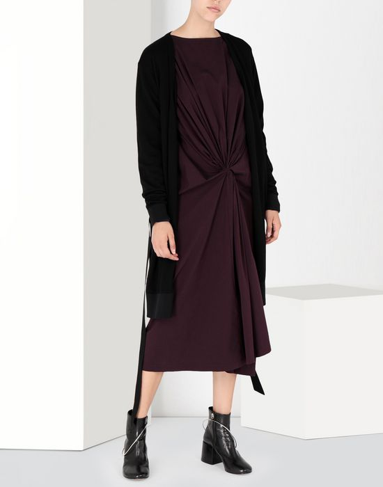 MM6 MAISON MARGIELA Two-tone tie knot midi dress 3/4 length dress [*** pickupInStoreShipping_info ***] r