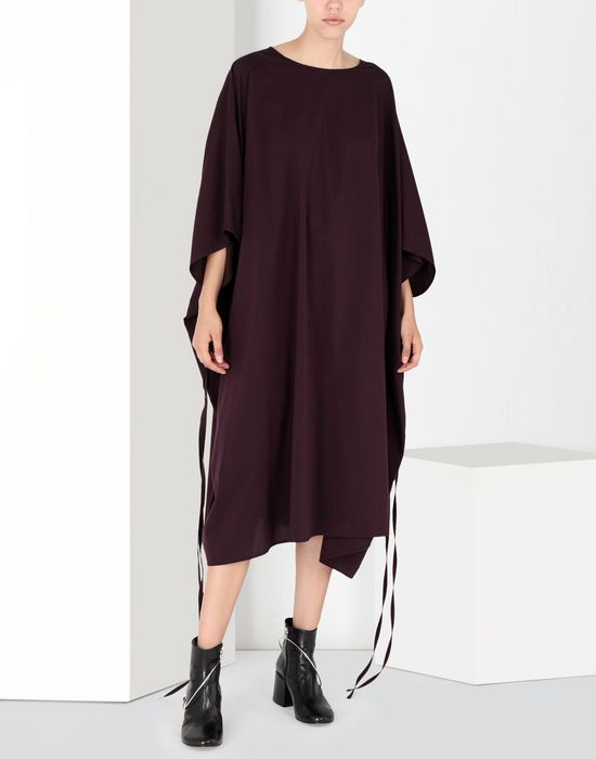 MM6 MAISON MARGIELA Flat cotton dress 3/4 length dress [*** pickupInStoreShipping_info ***] f