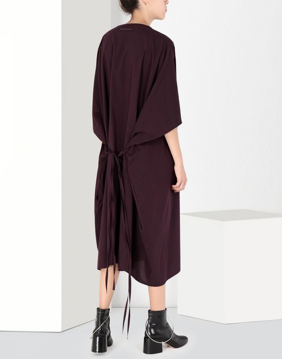 MM6 MAISON MARGIELA Flat cotton dress 3/4 length dress [*** pickupInStoreShipping_info ***] r