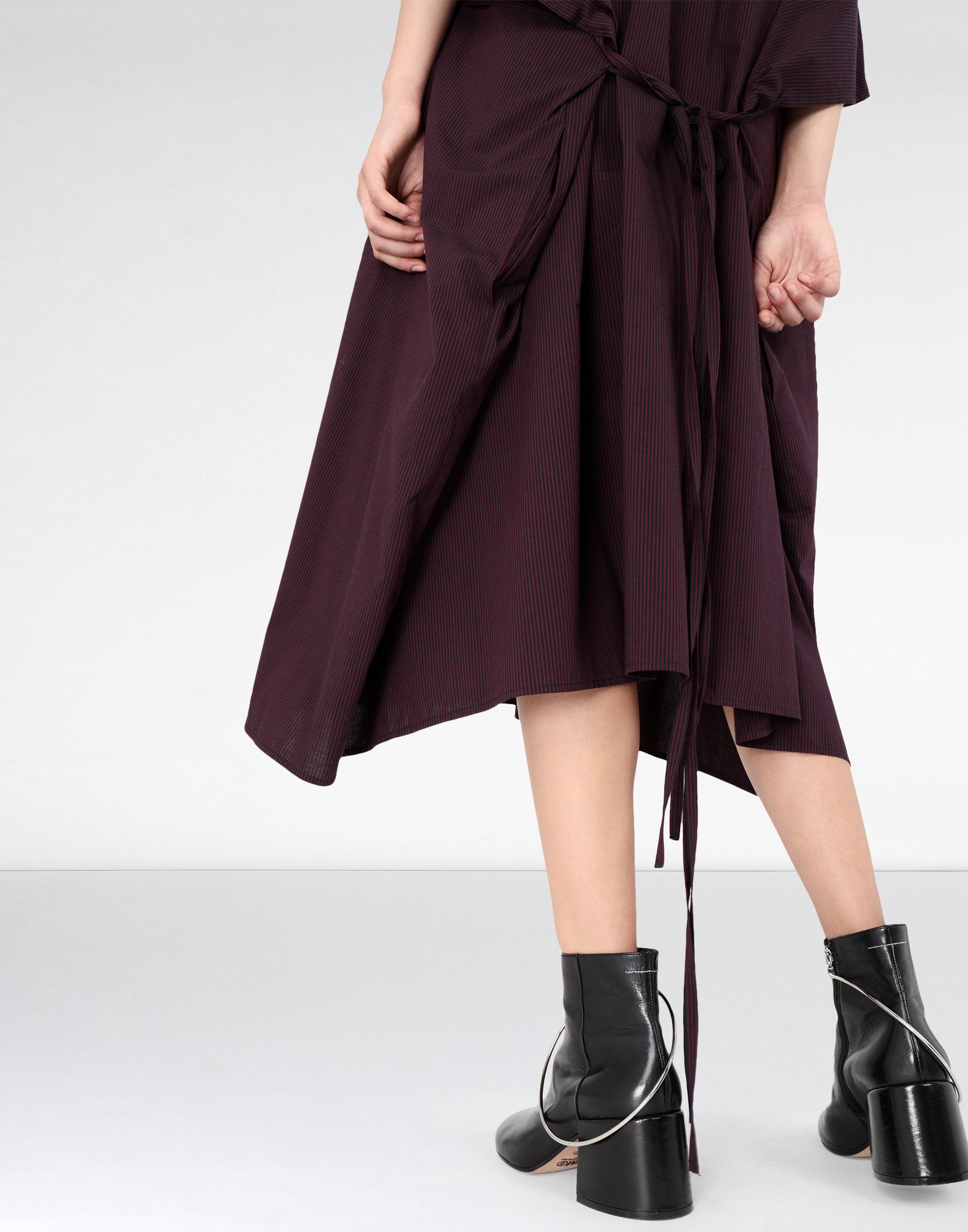 MM6 MAISON MARGIELA Flat cotton dress 3/4 length dress Woman a