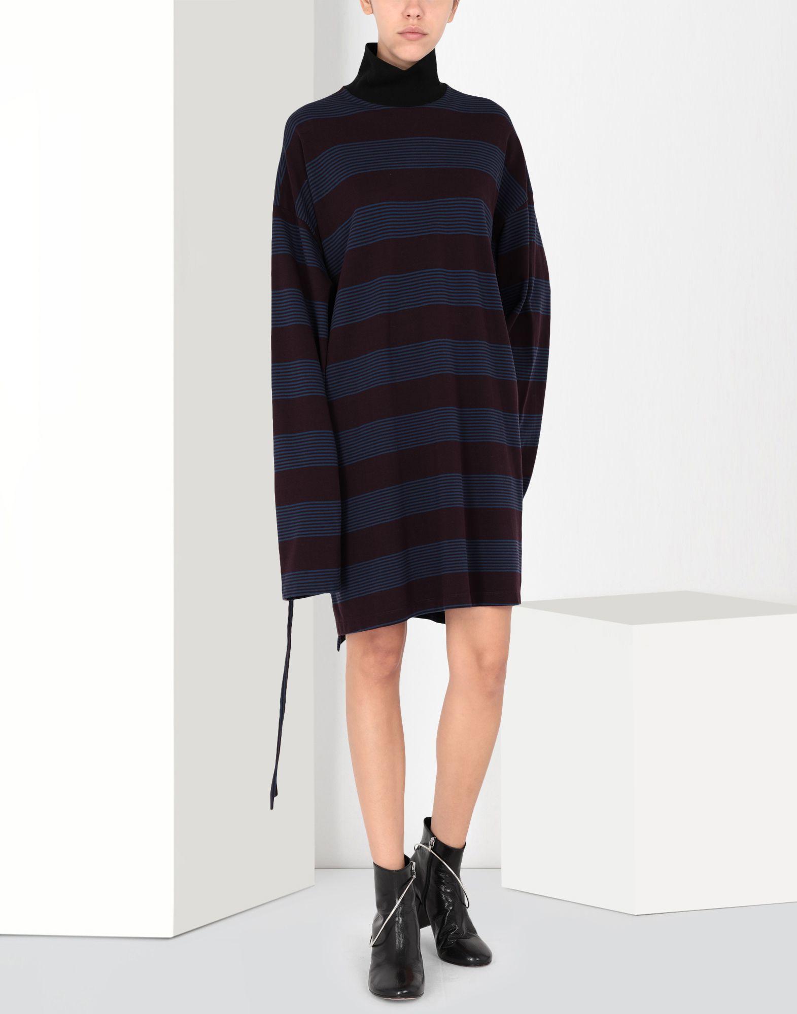 MM6 MAISON MARGIELA Striped jersey dress Short dress Woman f