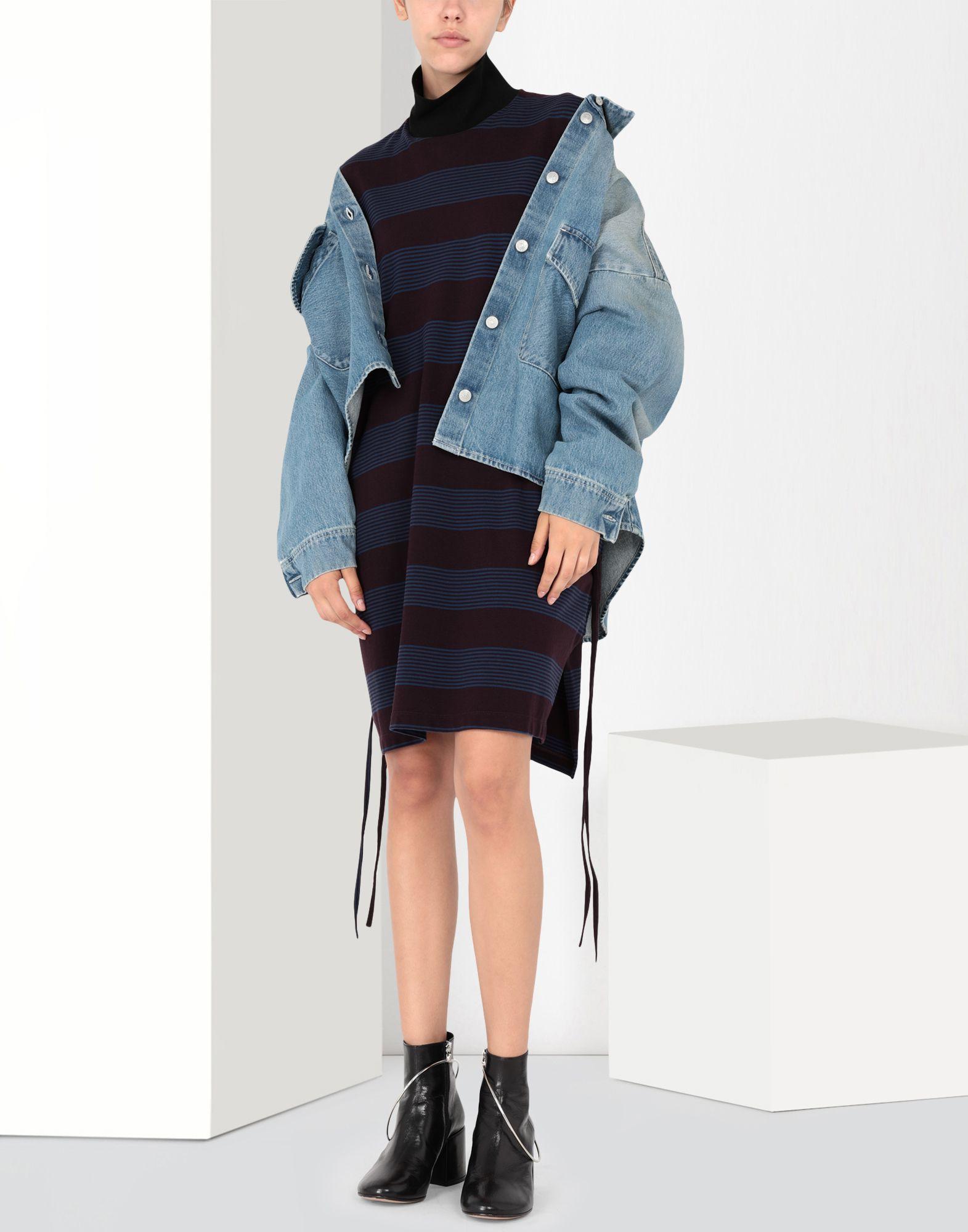 MM6 MAISON MARGIELA Striped jersey dress Short dress Woman r