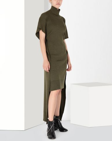 MM6 MAISON MARGIELA Long dress Woman Knitwear turtleneck dress f