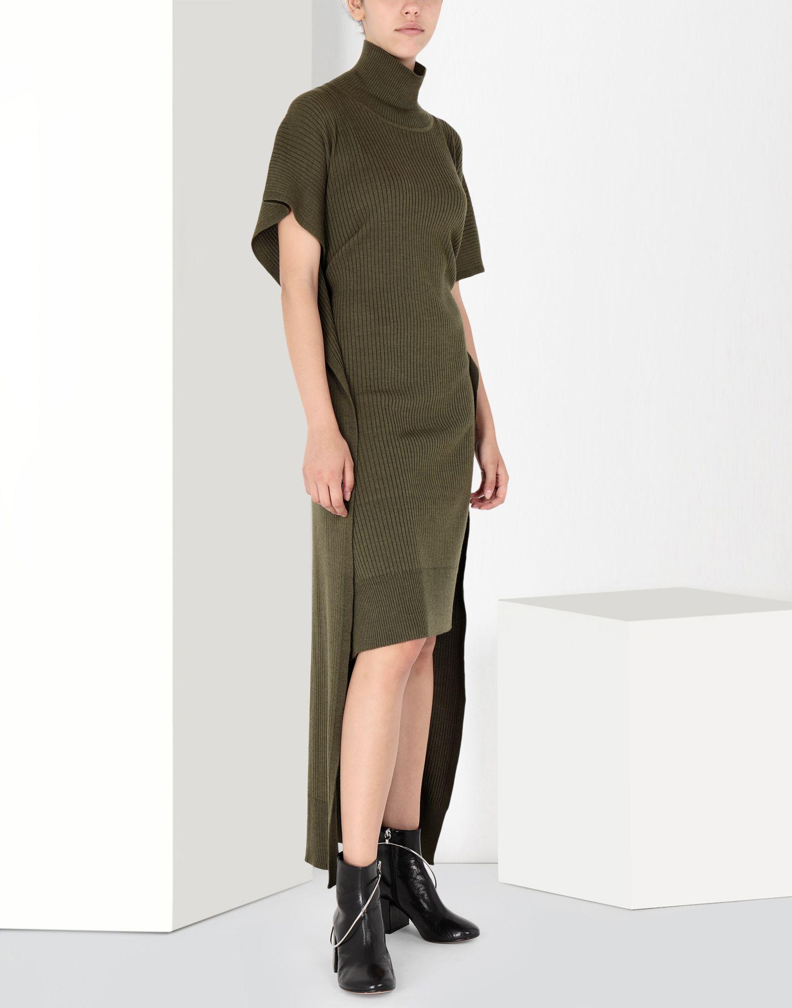 MM6 MAISON MARGIELA Knitwear polo neck dress Long dress Woman f